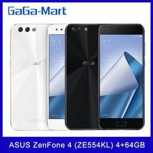 Küresel sürüm ASUS ZenFone 4 (ZE554KL) cep telefonu 4GB 64GB Snapdragon 630 Octa çekirdek 5.5 inç 12MP + 8MP NFC 3300mAh parmak izi