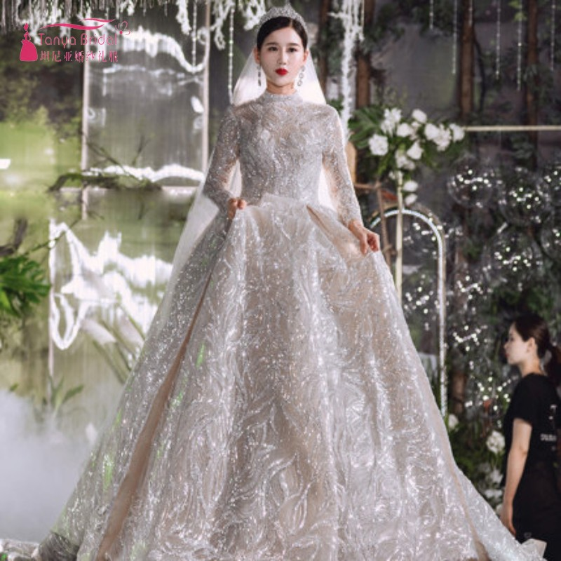 Crystal Bling Ball Gown Wedding Dresses