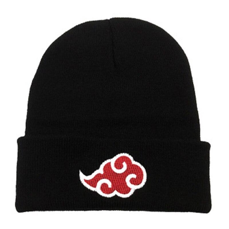Naruto Anime Hokage Ninja Sharingan rouge nuage casquettes de Baseball tricoté hiver chaud chapeaux hommes femmes garçons filles élastique noir