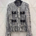 Casual Tweed Coat Wo...