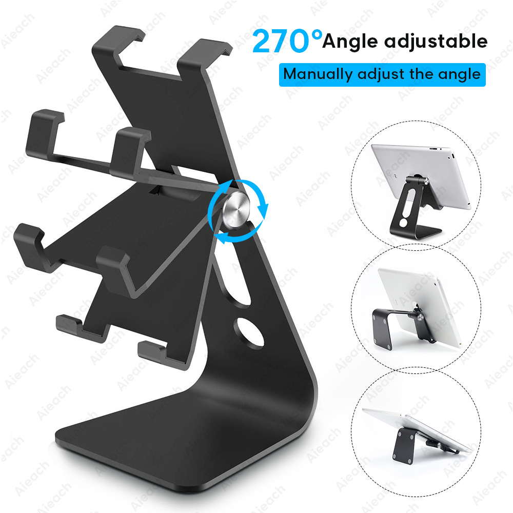 Universal Tablet Desktop Stand For Ipad Inch Metal Rotation