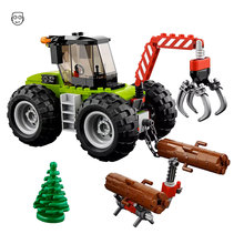 194pcs City Series Forest Tractor Engineering Lumberman Figures DIY Building Blocks Bricks Toys For Kids Gifts Compatible 60181