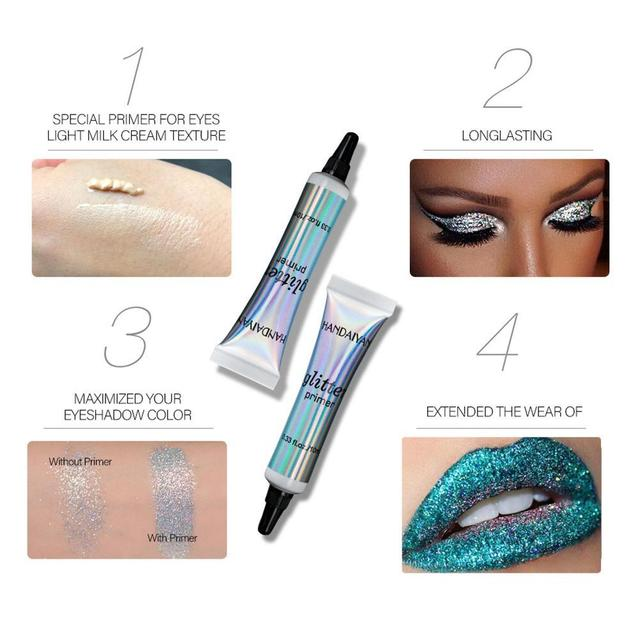 Glitter Primer Sequined Primer Eye Makeup Cream Waterproof Sequin Eyeshadow Glue Korean Makeup 2
