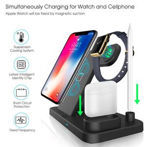 Image 3 - 3 in 1 Fast Wireless Charger Dock Station Fast Charging For Phone 11 11 Pro XR XS Max 8 for Watch 2 3 4 5 For AirPods