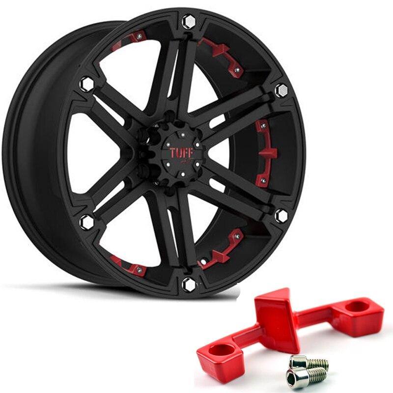 6pcs Set For Tuff A T T01 16 Inch Wheel Trim Strip Off Road Rims Decal Strips Red Abs Plastic Hub Caps Aliexpress