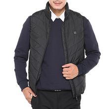 Invierno Unisex chaqueta eléctrica de calefacción USB al aire libre sin mangas abrigo chaleco almohadilla caliente al aire libre a prueba de viento ropa de calle regalo de Navidad