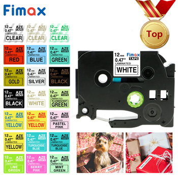 Fimax 14 Colors 12mm Compatible Brother P-touch TZe231 TZe-231 Label Tapes for Label Maker Printer Laminated Strong Adhesive
