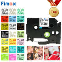 Fimax 31 Colors TZe231 TZe-231 Tz-231 tze231 Compatible for Brother P-touch Printer tze tape 12mm P touch Label Maker PT 100