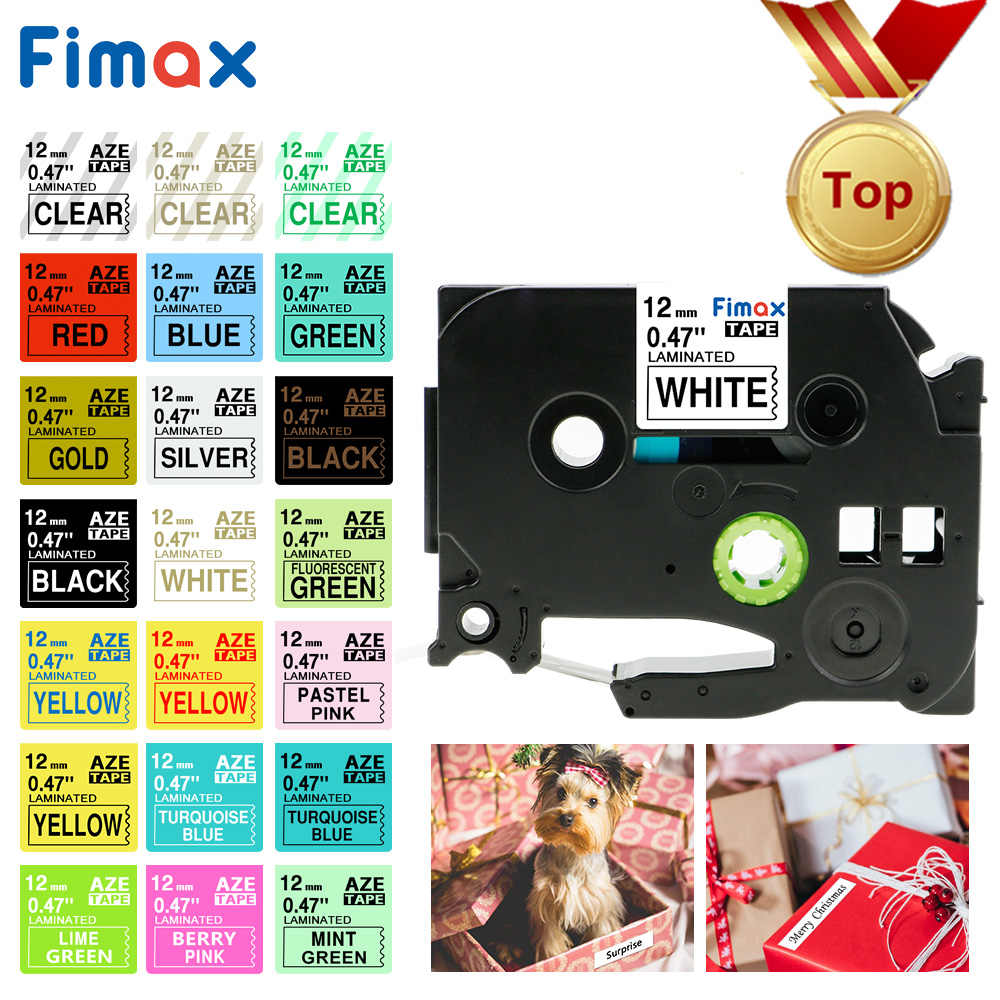 Fimax 31 ألوان TZe231 TZe-231 Tze 231 tze231 متوافق مع طابعة Brother P-touch tze الشريط 12 مللي متر تسمية صانع PT 100 PT D200