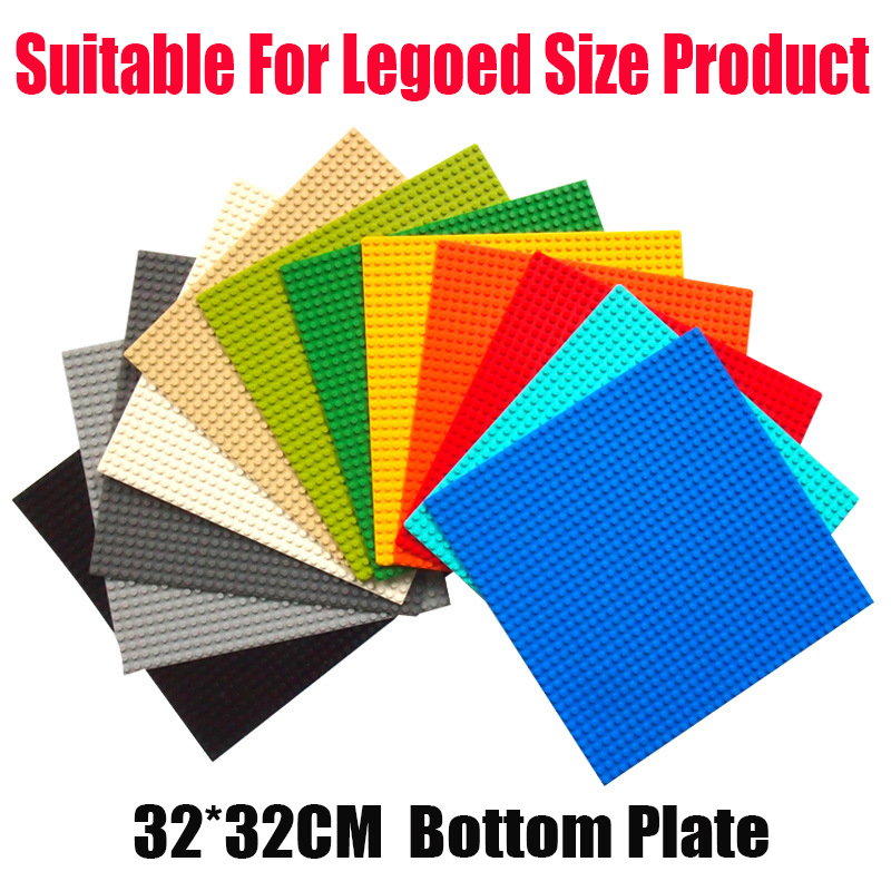 hot <font><b>32*32</b></font> <font><b>Dots</b></font> Quality BasePlate Compatible With LegoINGlys Building Blocks DIY Base Plate Educatioinal Bricks Toys for Kids image