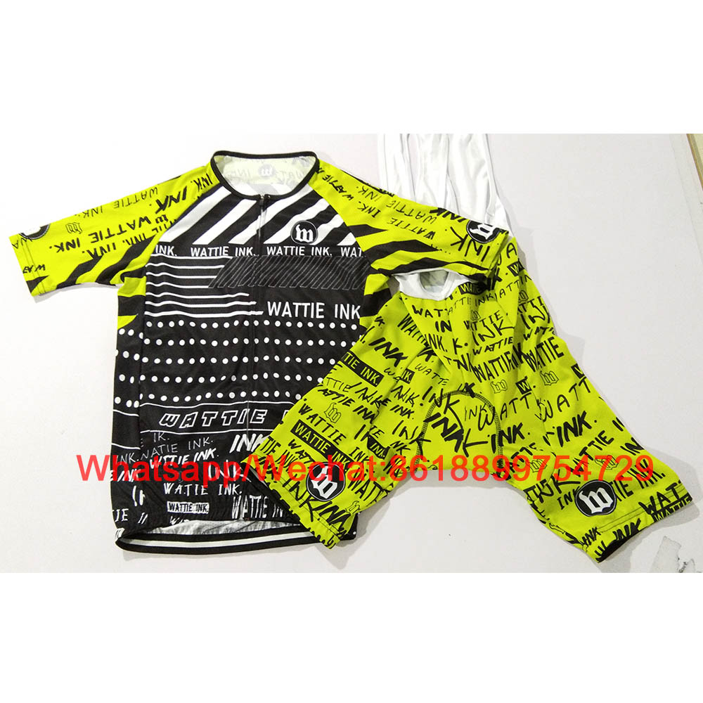 Wattie Ink 2019 Cycling Suit Bicycle Jersey Summer Clothing MTB Clothes Bike Uniforme Ropa Ciclismo Hombre Men Short Sleeve Kits