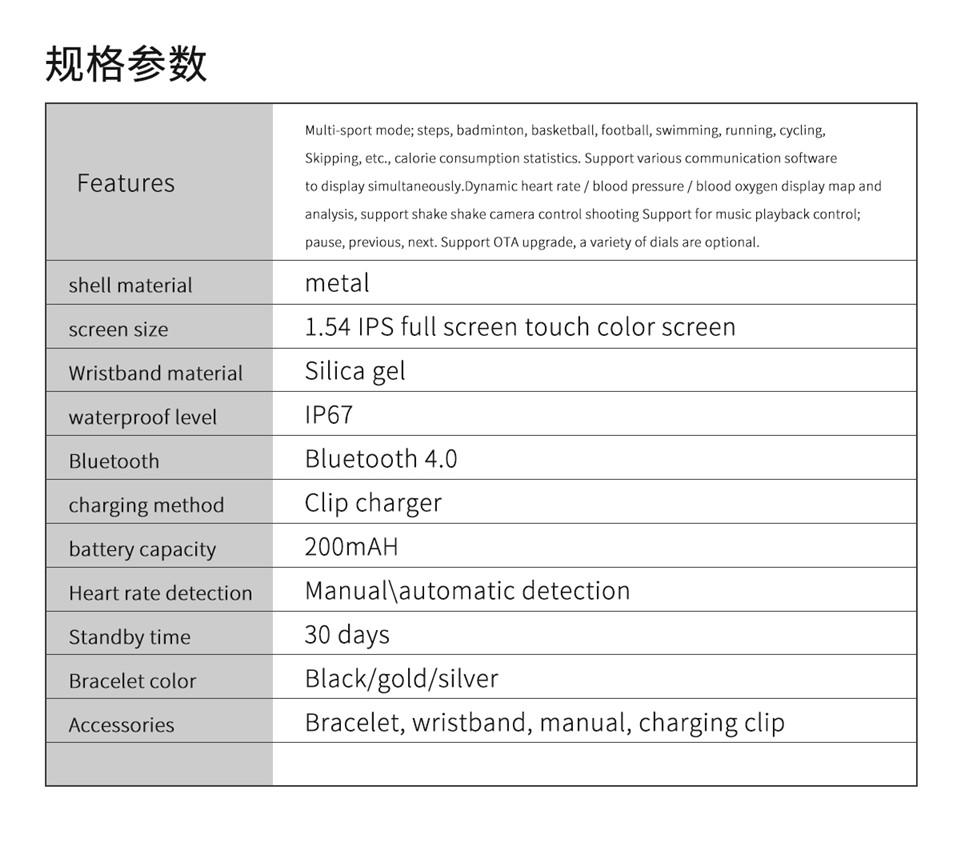 F10 Fitness Tracker ECG pulsera smartwatch 14