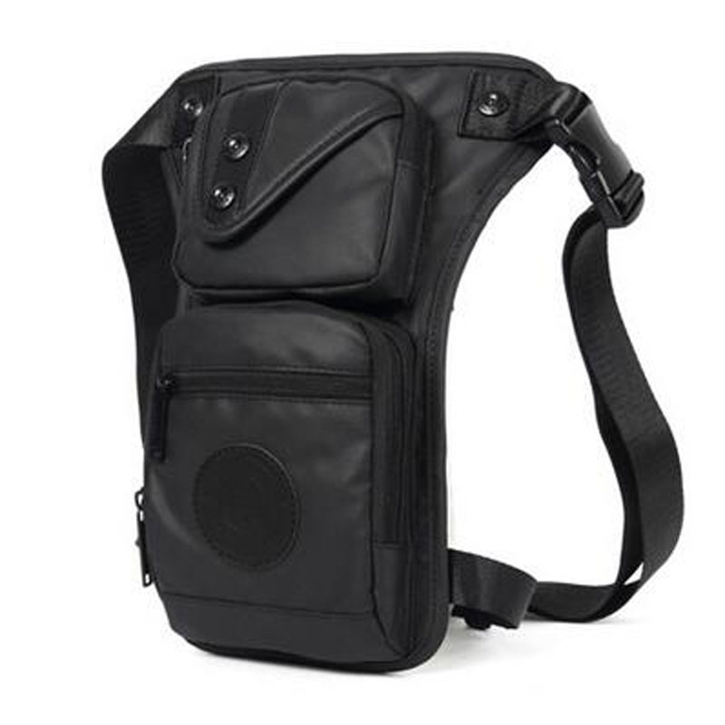 New Nylon Men Riding Drop Leg Bag Thigh Fanny Pack Motorcycle Casual Shoulder High Quality Male Hip Bum Belt Waist Bags