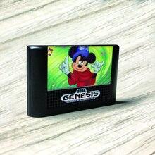 Fantasia   USA etykieta Flashkit MD bezprądowa złota karta PCB do konsoli Sega Genesis Megadrive gra wideo