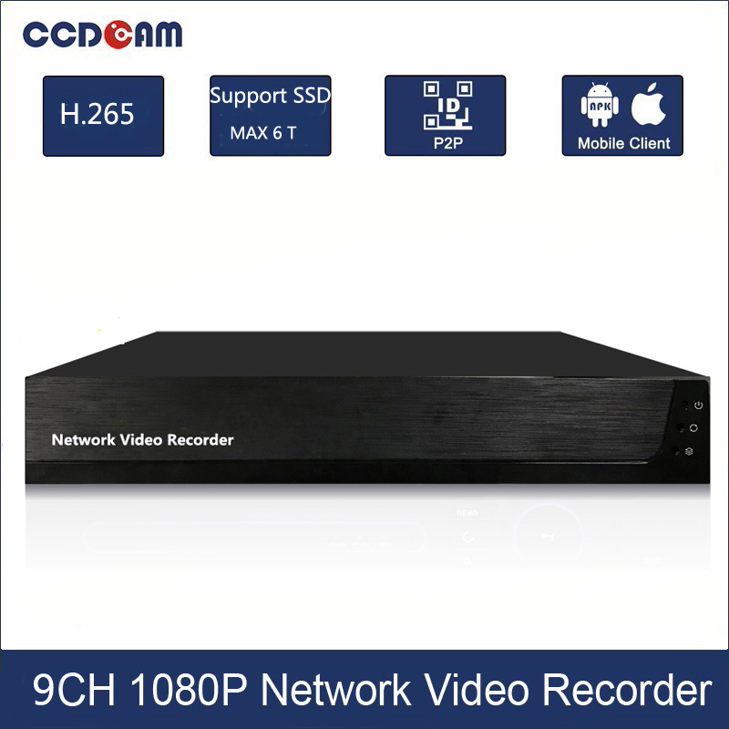 1080P NVR CH 9 For CCTV Network Video Recorder Support Onvif Protocal