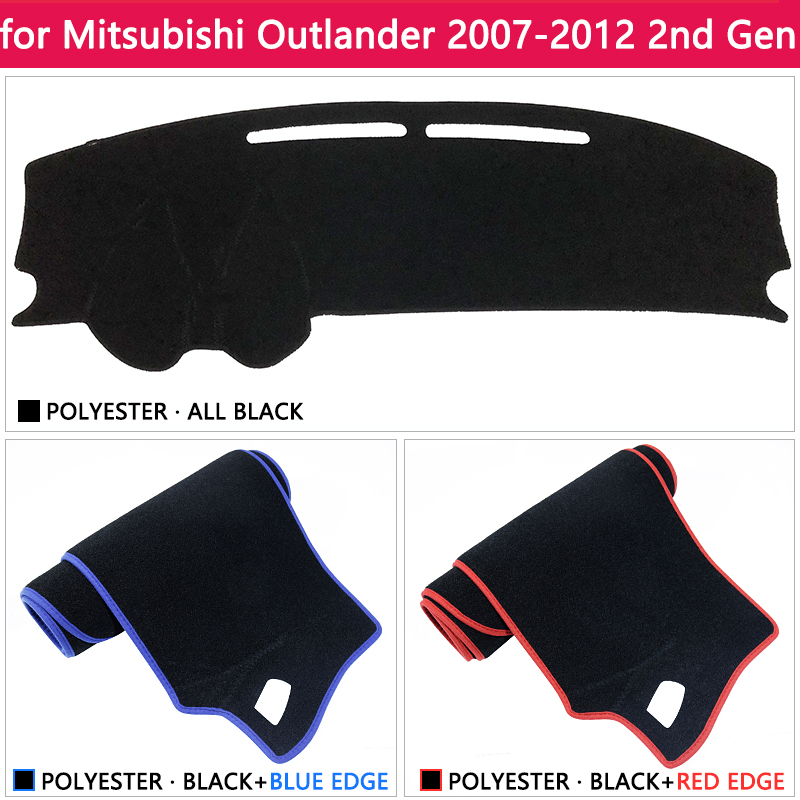 cheapest for Mitsubishi Outlander 2007 2008 2009 2010 2011 2012 2nd Gen Anti-Slip Mat Dashboard Cover Carpet Sunshade Dashmat Accessories