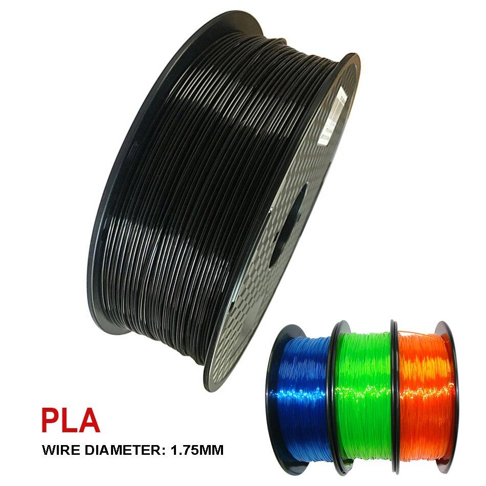 3D-принтеры PLA нити 1,75 мм печать материал 250G/100G сублимационная Пластик поставки цвет: черный, синий прозрачный 3D ручки с филаментом герметичн...