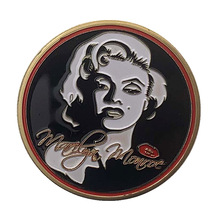 1962 USA Super Star Marilyn Monroe Sexy Commemorative Gold Plated Token Coin Collection Gifts drop Shipping