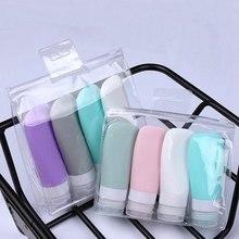 4 pçs portátil silicone viagem garrafa recipiente líquido vazio recarregável embalagem loção pontos shampoo recipiente creme viagem