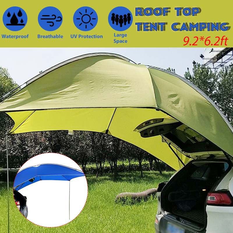 Outdoor Camping Car Tail Tent Waterproof Portable Fishing Shelter Camping Skylight Canopy Car Awning Cover Tent For Camping Fish