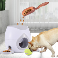 1pcs Pet Dog Toys Set Interactive Fetch Ball Tennis Launcher Dog Pet Toys Food Reward Machine with Feeding Spoon