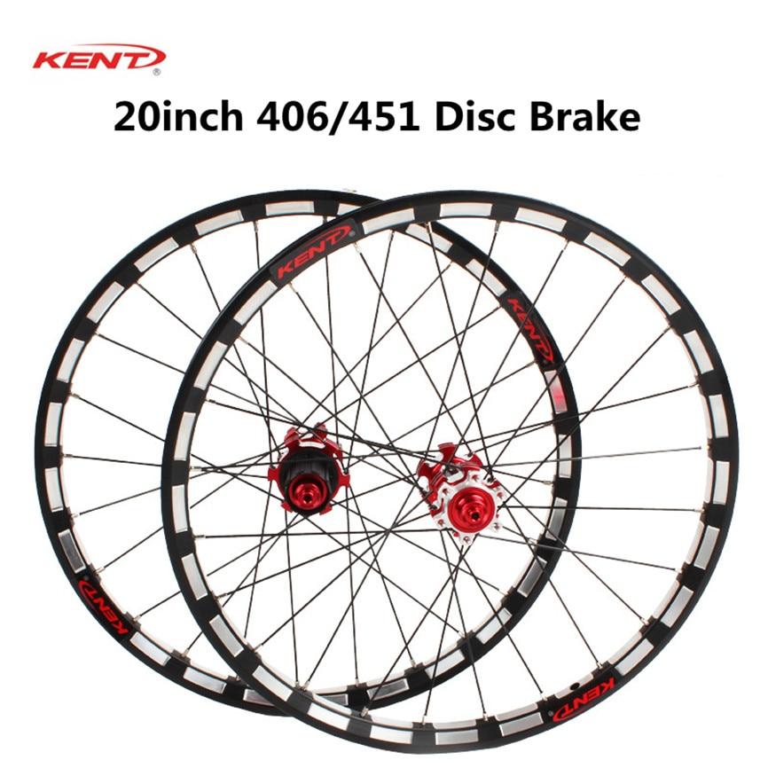 KENT Folding Bike 406//451 Wheels Front Rear 8//9//10//11s Disc Brake Rim Wheelset