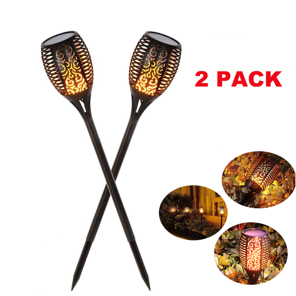 Dropshipping 1pcs 2pcs 4pcs 8pcs Solar Flame Flickering Garden Lamp Torch Light  For Garden Pathways