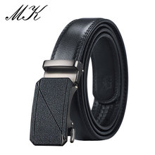 Maikun Automatic Belts for Men Fashion Pattern Metal Buckle Male Leather Business Casual