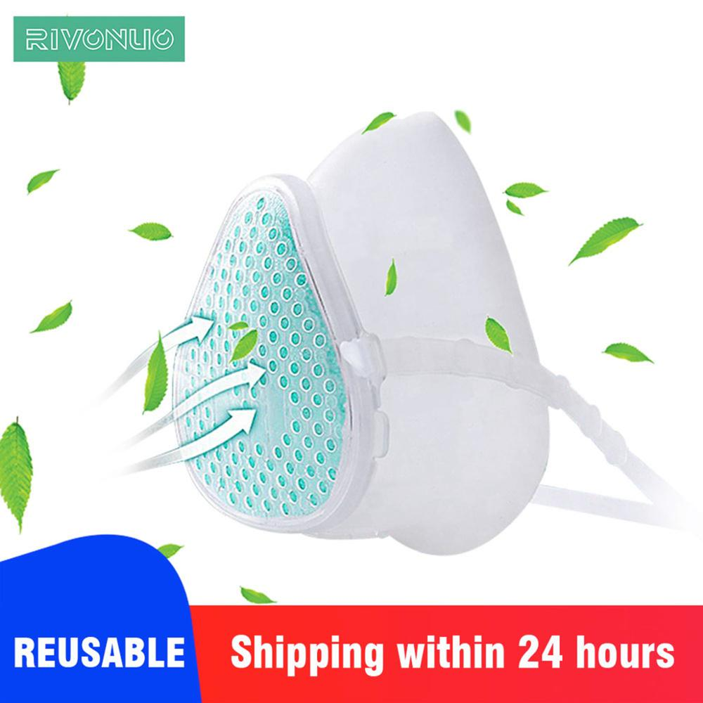 In Stock Men And Women Anti-Pollution Safety Fresh Air Purifying Dusk Mask Face KN95 Food Grade Silicone Face Mask