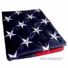 Ao ar livre eua bandeira 3x5 pés à prova dwaterproof água náilon bordado estrelas costuradas listras de bronze grommets bandeiras americanas e banners
