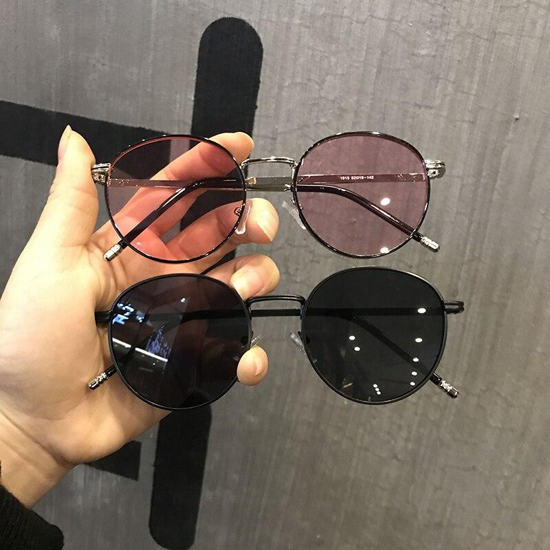1 pair Fashion Men Women Vintage Retro Round Sunglasses Metal Frame Eyewear Spectacles Driver Goggles Outdoor Sports Glasses