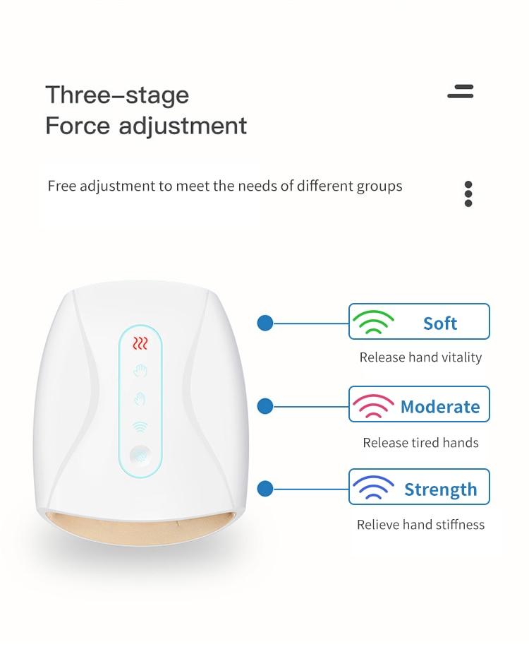 Electric Hand Massager Palm Finger Massage Machine with Air Pressure Heat Compression