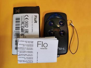flor Flor-s FLO2R-S FLO4R-S  Remote controller transmitter  Garage Gate door Opener for gate control 433.92MHz Rolling Code