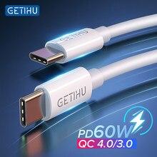 GETIHU PD 60W kabel USB C do typu C szybkie ładowanie ładowarka do telefonu komórkowego dla Xiaomi Redmi uwaga 9S Huawei iPad Macbook Pro Samsung