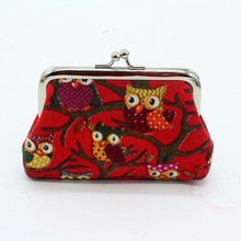 Cute Owl Coin Purse Leather Zipper Zero Wallet Child Girl Boy Handbags Women Lady Wallet For Credit Card Coin Bag Key Packet 815(China)