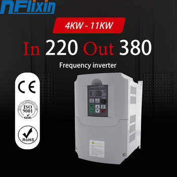 VFD Inverter 5.5KW-11KW Frequency Converter 1 Phase AC 220V Input 3 Phase AC 0-380V Output 0Hz-400Hz Variable Frequency Inverter image