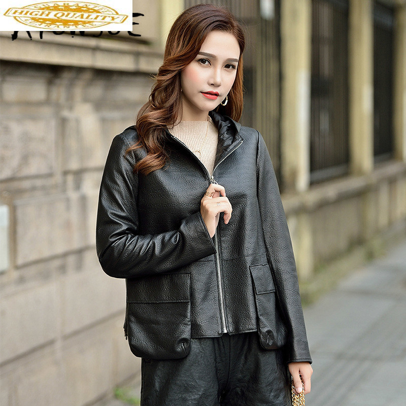 Real Leather Jacket Women Clothes 2019 Sheepskin Genuine Leather Jacket Korean Women Windbreaker Chaqueta Mujer 18760 YY2142