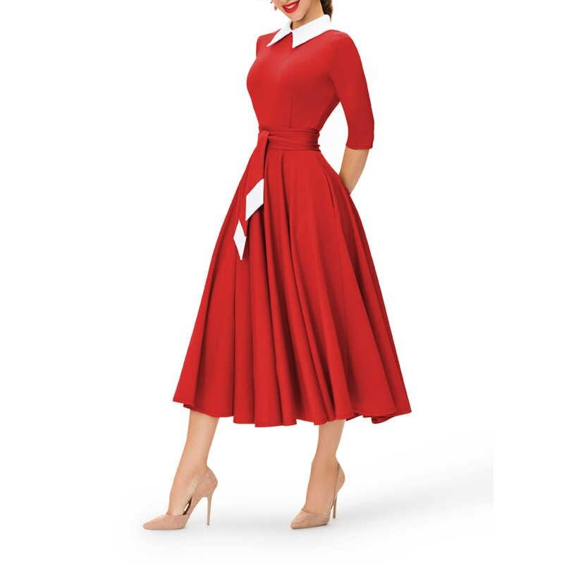 Поло шеи Плиссированные Полиэстер женское летнее платье с коротким и широким подолом осень короткий рукав Формальное длинное платье макси хаки свободные вечерние платья