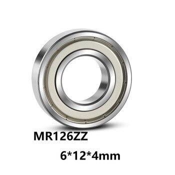 10Pcs / Lot Mr126Zz Deep Groove Ball Miniature Mr126 Zz Miniature Ball Bearing 6 * 12 * 4Mm abec 3 50pcs 693zz 693 zz 3x8x4mm mini ball bearing miniature bearing deep groove ball bearing brand new 3 8 4 mm