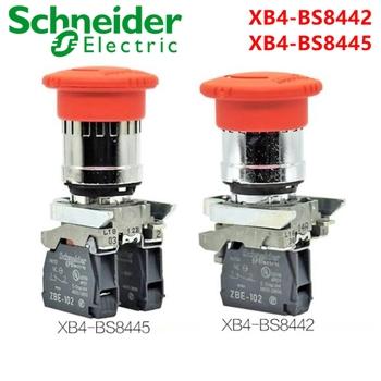 Schneider przycisk zatrzymania awaryjnego przełącznik XB4-BS8442 XB4-BS8445 22mmΦ 44mm ZBE-101 ZBE-102 wysokość nowy oryginał tanie i dobre opinie 12-24VDC Przełączniki 60 days Przełącznik Wciskany