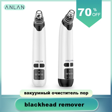 ANLAN Blackhead Remover Face Deep Pore Cleaner Removal Vacuum Suction Acne black head remover tool pimple sucker acne extractor vacuum pore cleaner blackhead remover 4pcs acne removal needles set face cleaning vacuum suction black dots spots remover tool