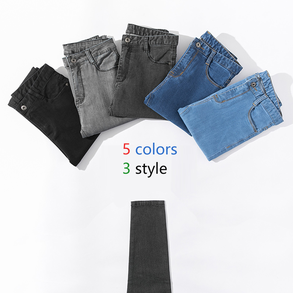 New Casual Jeans For Women Vintage Mom Jeans High Waist Stretch Jeans Woman Washed  Denim Jeans Skinny Pencil Pants Ankle-Length