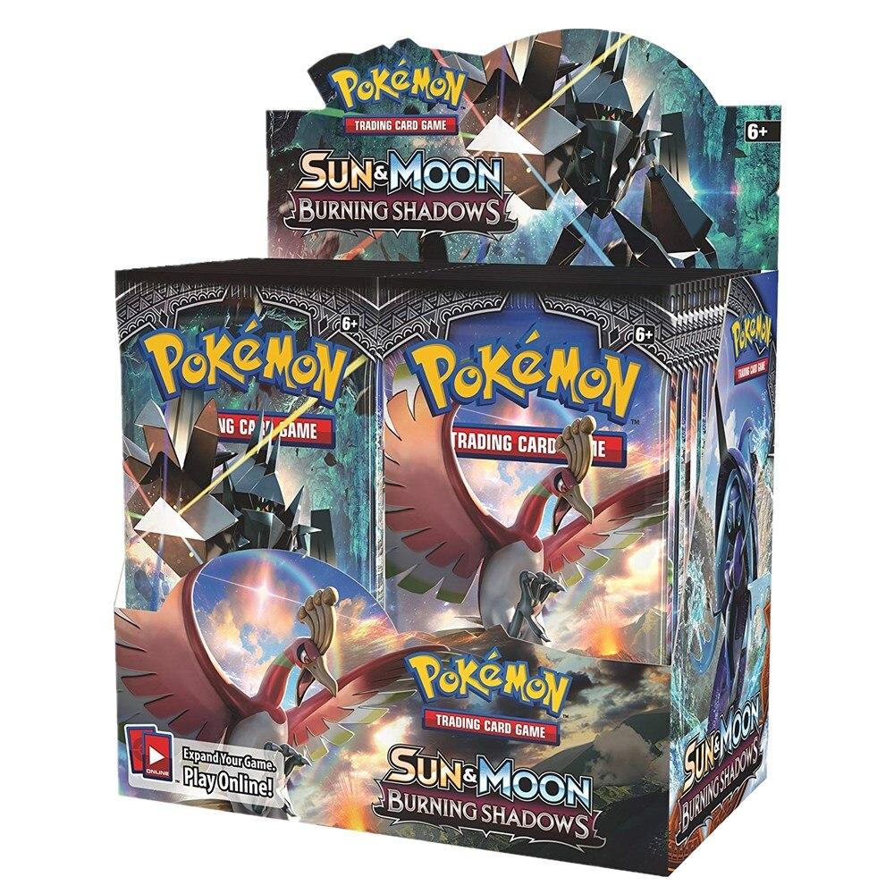 324Pcs Pokemon TCG: Sun & Moon Burning Shadows Booster Box Collectible Trading Card Game Kids Toys Gift