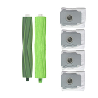 Substituição escovas kit (2 pc escova principal & 4 sacos de eliminação de sujeira) para irobot roomba i7 i7 +/i7 plus e5 e6 e7 aspirador de pó|Peças p/ aspirador de pó| |  -