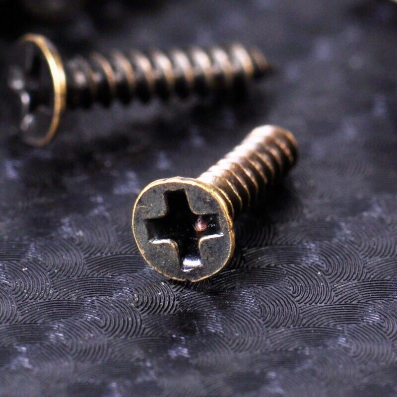 12 шт Античная Латунь золотая для шкафа миниатюрная петля Ювелирная
