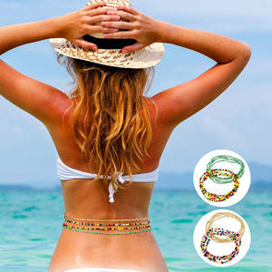 Bikini Waistband Belt Dress Body-Chain Vintage Bohemia Women Beach Summer Bead Charms