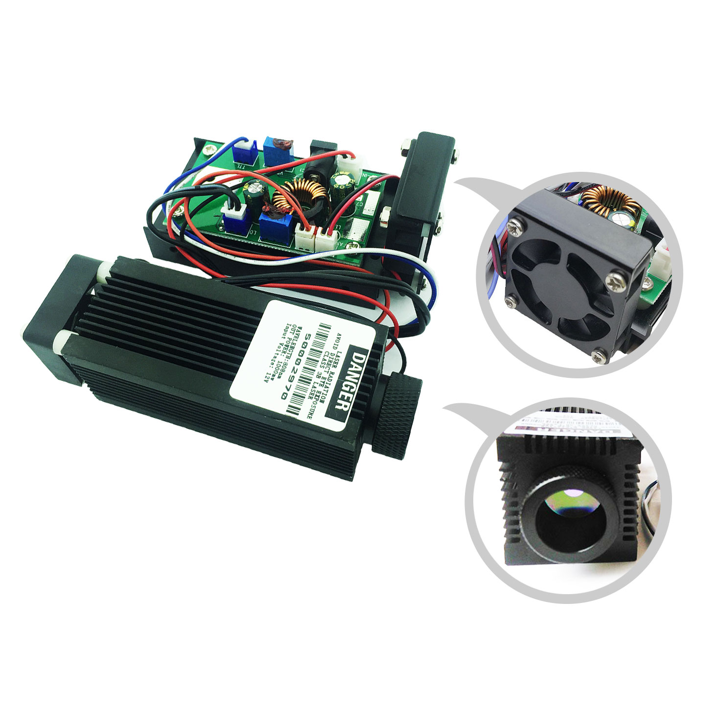 IR High Power 808nm Infrared Laser Module 1000mW Diode Focusable 1W Lazer With TTL / PWM