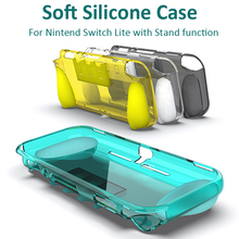 цена на For Switch Lite TPU Protector Case Soft Anti-Scratches Protective Shell Cover Silicone Case With Stand for Nintend Switch Lite