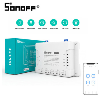 Sonoff 4CH Pro R3 Switch 433 Mhz RF 4 Channel/ Gang Intelligent Wireless Module For Smart Home Automation