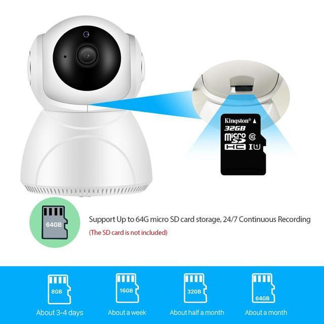 Caméra de surveillance IP WiFi hd 3MP (V380), dispositif de sécurité domestique sans fil, avec suivi ia, panoramique/inclinaison, Vision nocturne, Cloud P2P, application 6